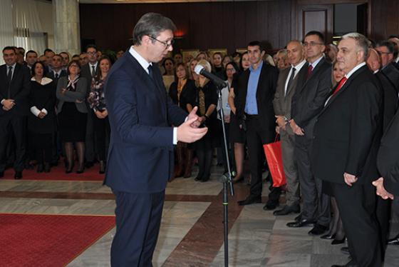 The President of the Republic of Serbia, Mr. Aleksandar Vučić, attending the celebration of BIA's Patron Saint Day, Saint Michael the Archangel (November 21st, 2017)